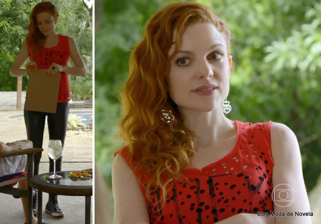 moda da novela Em Família - look da Vanessa dia 23 de junho