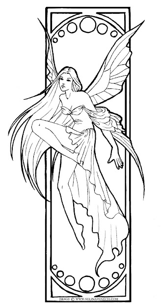Beautiful Fairy Colouring Pages  Want To Colour This With My Copics