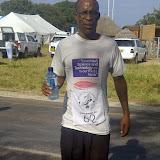 Half Marathon finisher (he ran in socks)