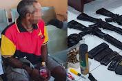 DPO Anggota KKB Akhirnya Tertangkap, Sejumlah Pucuk Senjata Ikut Disita
