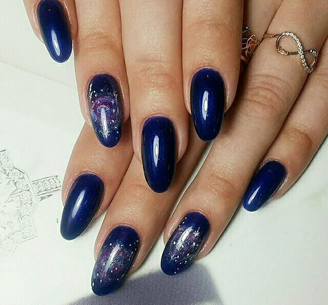 How To Do Easy Galaxy Nails Try It Now 2
