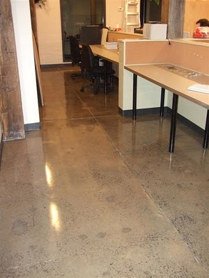 Clear Epoxy Over Grinded Concrete