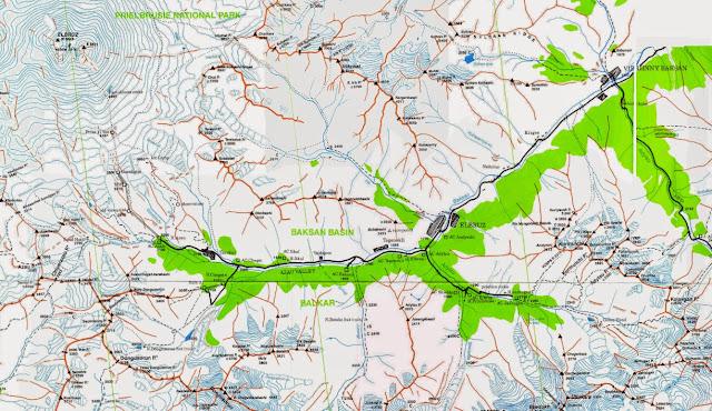 Carte : Vallée de l'Azau et Mont Elbrouz