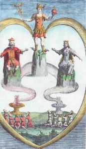 Engraving From Benedictus Figulus Thesaurinella Olympica 1682, Alchemical And Hermetic Emblems 2