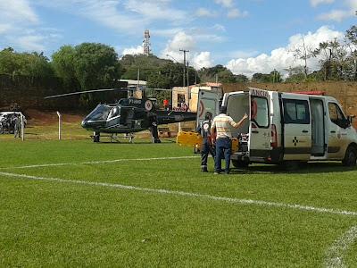 Resultado de imagem para helicóptero samu borrazopolis