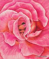 """Rose Biene', Öl auf Leinwand, 50x60,2007, verkauft"