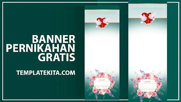 Banner Wedding Pernikahan Mohon Doa Restu