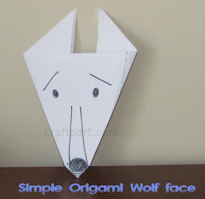 Kid Friendly Origami Wolf Face