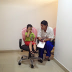Eye Check Up in Jr.Kg and Sr.Kg (2014-15) at Witty World