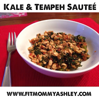 kale, tempeh, 22 minute hard corps, dinner, healthy, vegan, vegetarian, salsa, trader joes, portion fix, 21 day fix, recipes, meatless