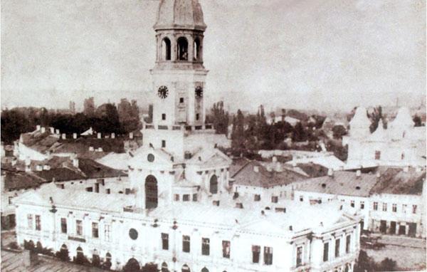 старе зображення Ратуші Франківськ