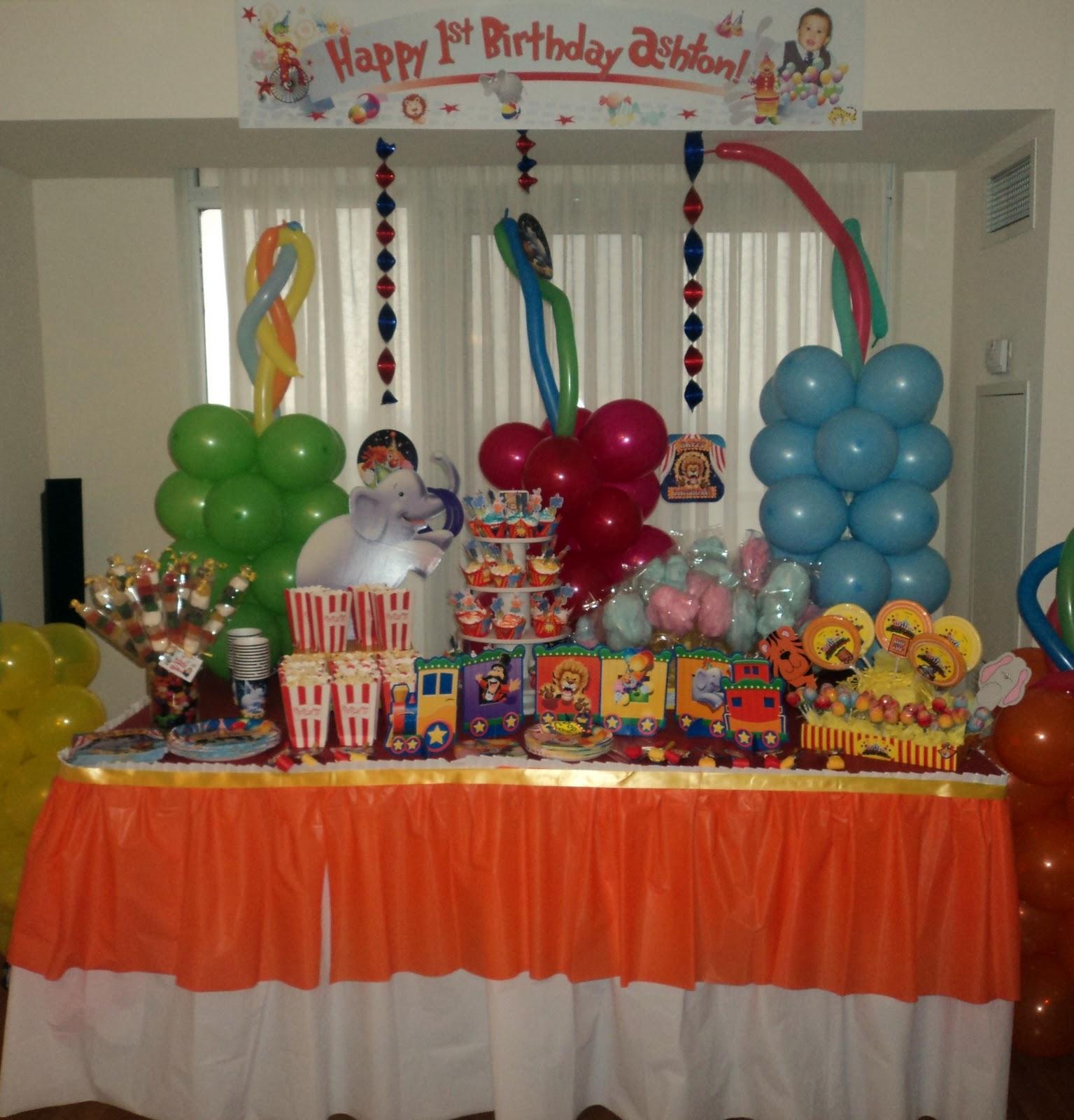 Party-Tales: ~ Birthday Party ~ Big Top Circus Ashton\'s 1st Birthday ...