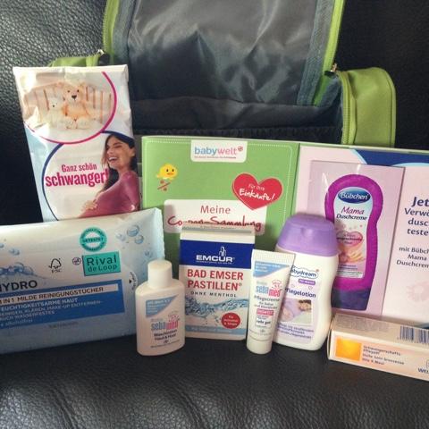 Inhalt Rossmann Babywelt Geschenk für Schwangere