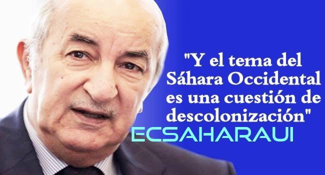 """Presidente de Argelia: """"No tenemos ningún problema con Marruecos""""."""
