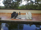 Big size Chess board and men made of local wood