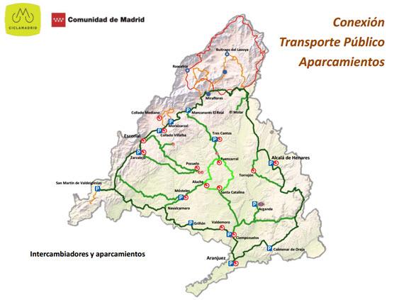 Ciclamadrid, una ruta ciclista circular de más de 400 kilómetros de longitud por Madrid