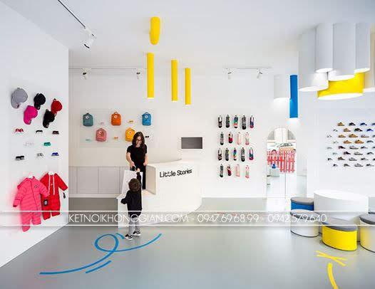 thiết kế shop giày dép trẻ Little Stories 10