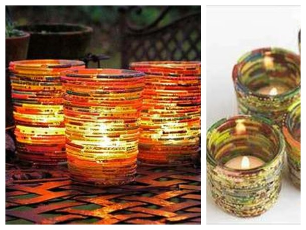 bangle tea lights decor