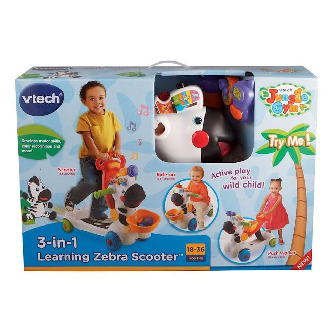 Đồ chơi Xe chòi chân Vtech 3 in 1 zebra scooter