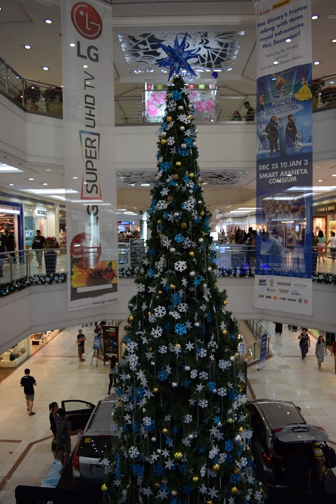 Christmas decorations in full force at the Gateway Mall in Quezon City.