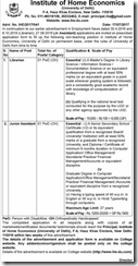 Institute of Home Economics Notice 2017 www.indgovtjobs.in