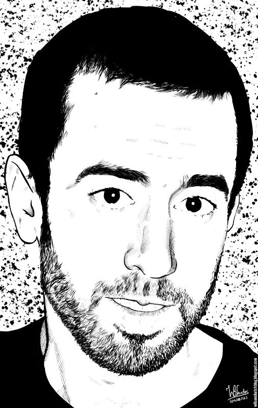 Ink self portrait, using Krita 2.4.