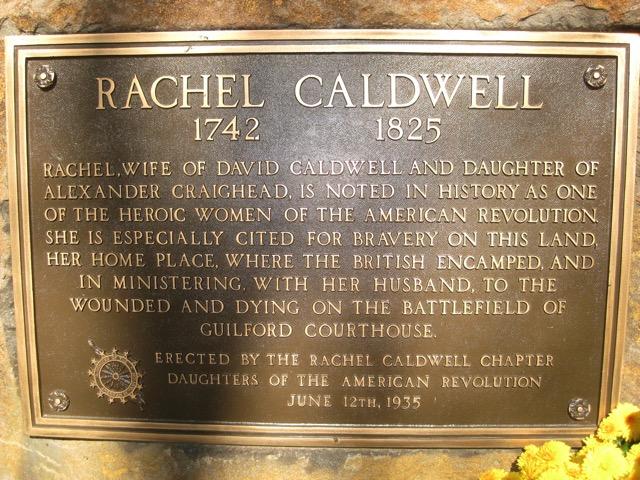 Rachel Caldwell plaque