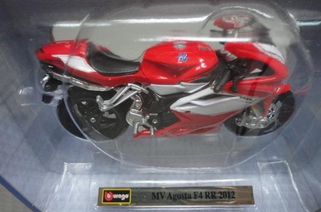 Mô hình xe máy MV Agusta F4 RR 2012 màu đỏ Bburago nguyên mẫu thu nhỏ tỷ lệ 1/18