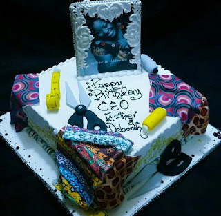 Cake for a fashion designer