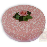 5. kép: Ünnepi torták - Marcipán rózsás torta