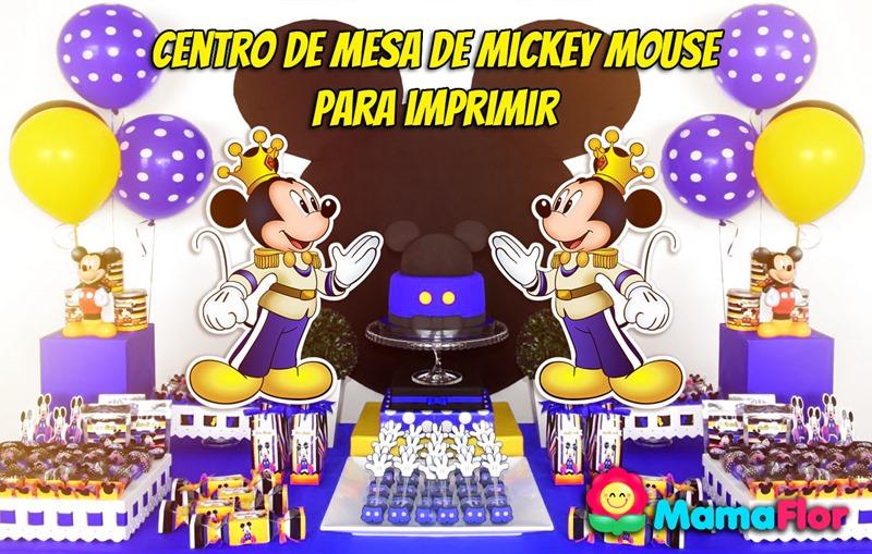 Mickey Mouse: Centro de Mesa para Imprimir