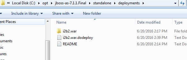 JBoss asking me to create i2b2 war dodeploy file despite it