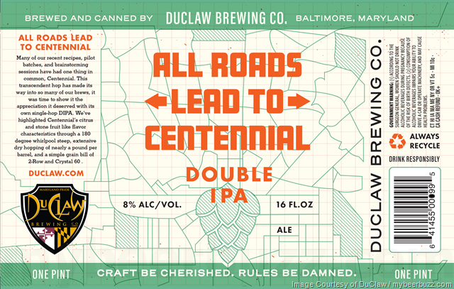 DuClaw Adding All Roads Lead To Centennial DIPA Cans