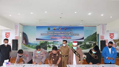 Pemkab. 50 Kota Tandatangani Pakta Integritas Penanganan Covid19