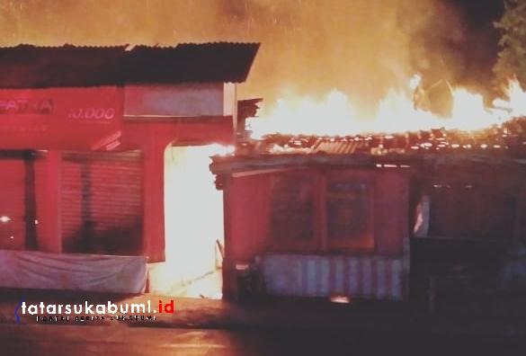 Kebakaran di Cibadak Sukabumi, 1 Korban Luka Bakar
