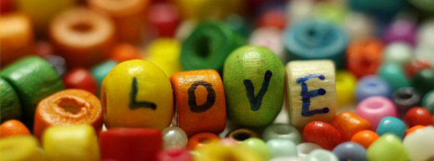 Love colorful facebook cover