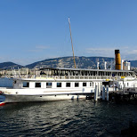 ferry tour boat at Lake Geneva in Geneva, Geneva, Switzerland