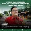 4 Tahun Jadi Gubernur, Anies Telah Revitalisasi Trotoar Sepanjang 184 KM