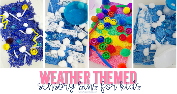 Weather Themed Sensory Bins for Kids