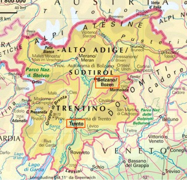Cartina Stradale Veneto Trentino.Unmondodiamici Il Trentino Alto Adige