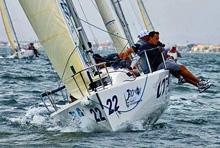 J/80 sailing upwind in Spain
