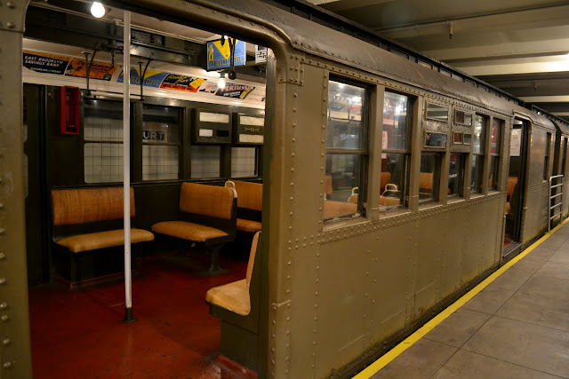 BMT D-type Triplex Car.Транспортный музей Нью-Йорка (New York Transit Museum, NYC)