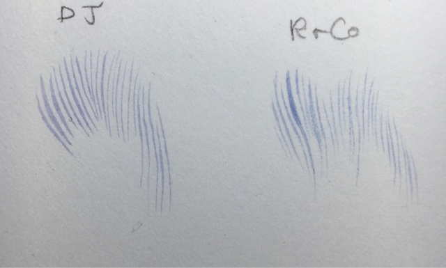 Painting fine lines comparison of brushes David Jackson versus Rosemary and Co