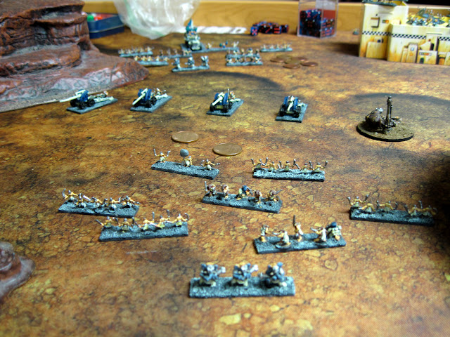Meanwhile, Cultists of the Grey Blob move forward.