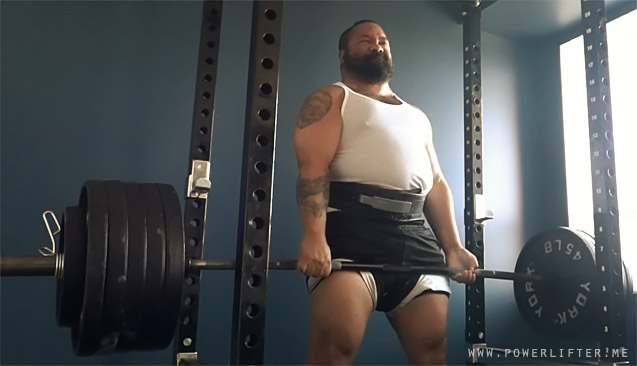 Powerlifter Deadlifting Raw Powerlifting Training Log
