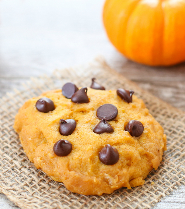 photo of a microwave pumpkin cookie