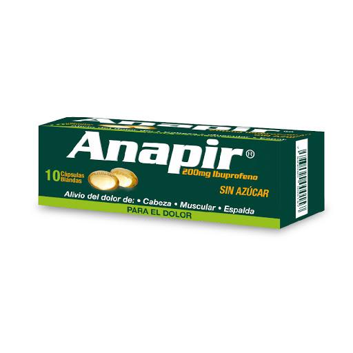 Ibuprofeno Anapir 200 mg x 10 Cápsulas Blandas