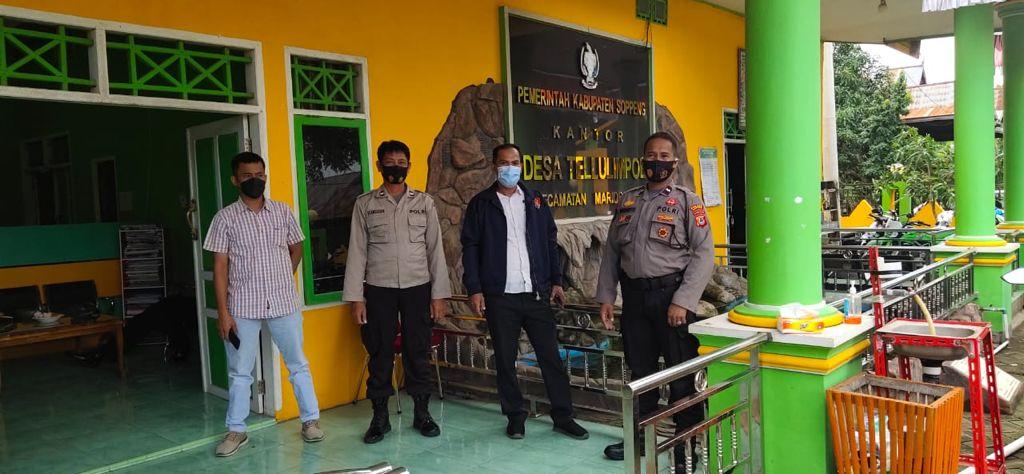 Polres Soppeng Kerahkan Personil dalam Rangka Amankan Pelantikan Pemilihan Anggota BPD Terpilih