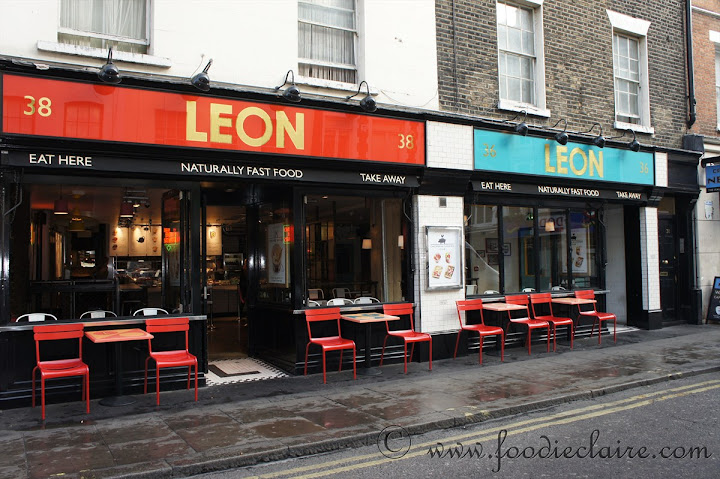 Leon's restaurant on Old Compton Street London