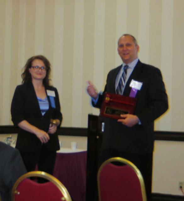 Gary Raab introducing the new SFC President, Hedy Kulka